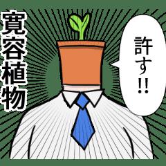 許すっ!ダジャレ観葉植物スタンプ!
