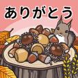 秋の和風スタンプ.