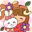 Bunny rabbit and girl in Osaka
