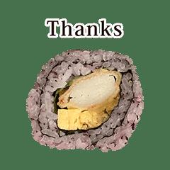 かにかま巻き寿司 と 英語 English