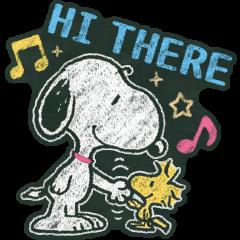 Snoopy 粉笔画