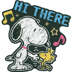 Snoopy: Chalk Art