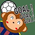 SOCCER CLUB STICKER(monkey)B