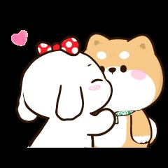 สติ๊กเกอร์ไลน์ ชิบุง&บิงซู 2 : รักกันทุกวันเลย