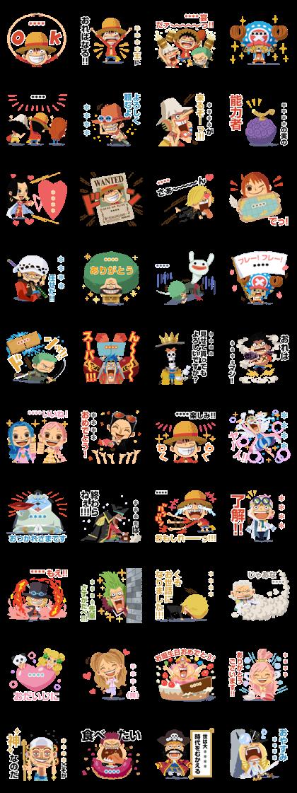 ONE PIECE Custom Stickers