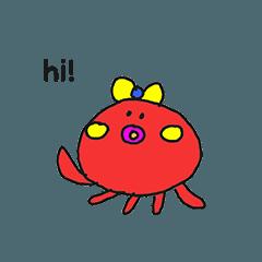 可愛章魚貼紙 by Kotch