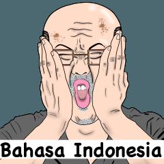 a real bald man (Bahasa Indonesia)