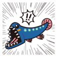 Deep-Sea Fish murmur Sticker