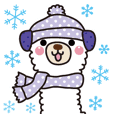Alpaca's winter sticker