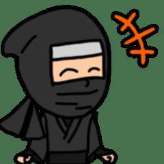 かわいい和風の忍者スタンプ