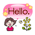 Cute girls greeting set (English)