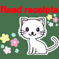 猫 English phrases Read receipts  既読