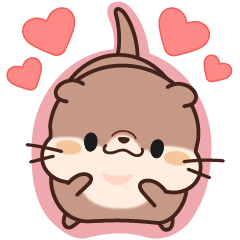 Daily Stickers of Cute Otter: Animated