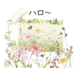 new gentle colored flowers greetings