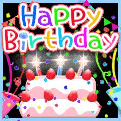 Animated Happy Birthday 3 Black