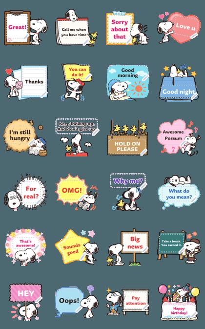Snoopy 消息贴图