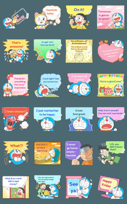 Doraemon Message Stickers