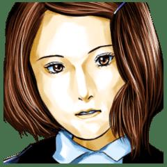 ともふみ作似顔絵スタンプ英語版6