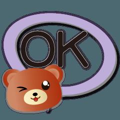 可愛棕熊 實用縷空多彩對話框