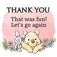 Stiker Pesan Winnie the Pooh