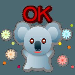 可愛無尾熊 簡約日常用語