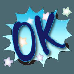 韓流常用深藍水晶貼