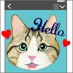 24隻貓表情動作貼紙