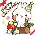 namaiki-rabbit7.snowball fight&Christmas