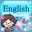 *使うと雪が現れるよ*英語の挨拶