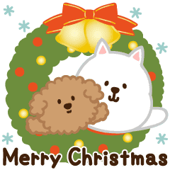 Dogs Animated Stickers for Xmas