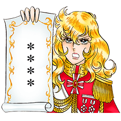 La Rose de Versailles Custom Stickers