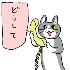 電話猫 - LINE スタンプ | LINE STORE
