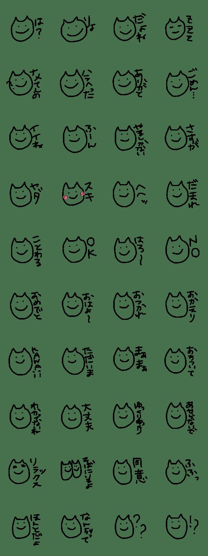 「ゆるすぎるネコ?」のLINEスタンプ一覧
