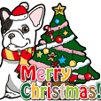 Wanko-Biyori French Bulldog Christmas