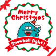 Snowball fight Galaxy Monsters Christmas