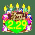 2月の誕生日♥日付入り♥ケーキでお祝い♪