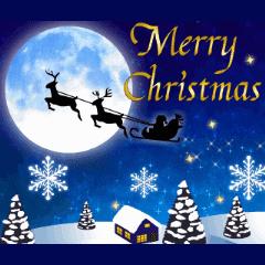 大人のクリスマス動く Line スタンプ Line Store