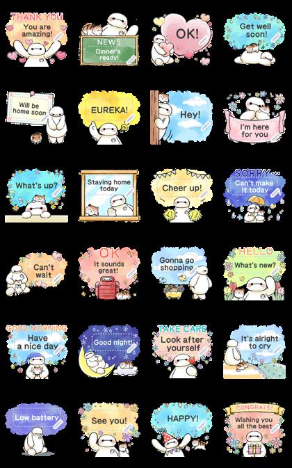 Big Hero 6 Message Stickers