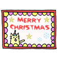 Animation!Christmas & New year sticker