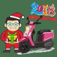 機車版的聖誔快樂 & 2018新年快樂