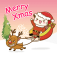 Hani cat-cute kitten sticker5 Merry Xmas