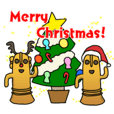 Funny Haniwa Sticker For Holiday Season
