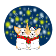Corgi Stamp (Christmas and New Year)