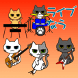 CAT BAND Stickers Ver.2