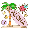 Hawaiian adult sticker7
