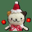 あみぐるみネコ(クリスマス)