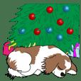 Dengan Anjing, pada hari Natal :Cavalier