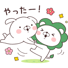 Lidea × Daily Lives of cute white dogs