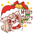 Little Santa Merry Christmas Sticker