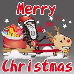 Merry Christmas Boss.Monkey Boss Family Merry Christmas Line Stickers Line
